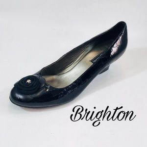 Brighton Black Croc Low Pumps